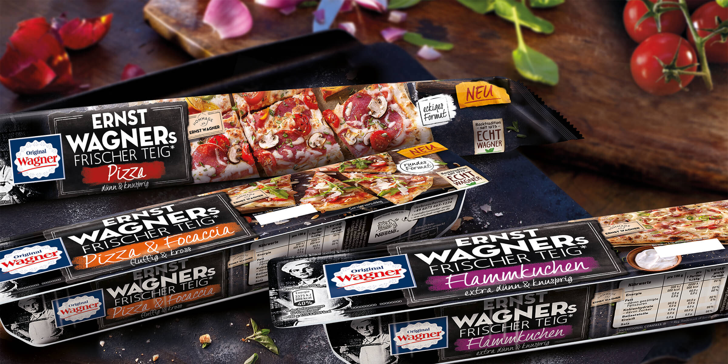 Verpackungsdesign Wagner Big City Pizza