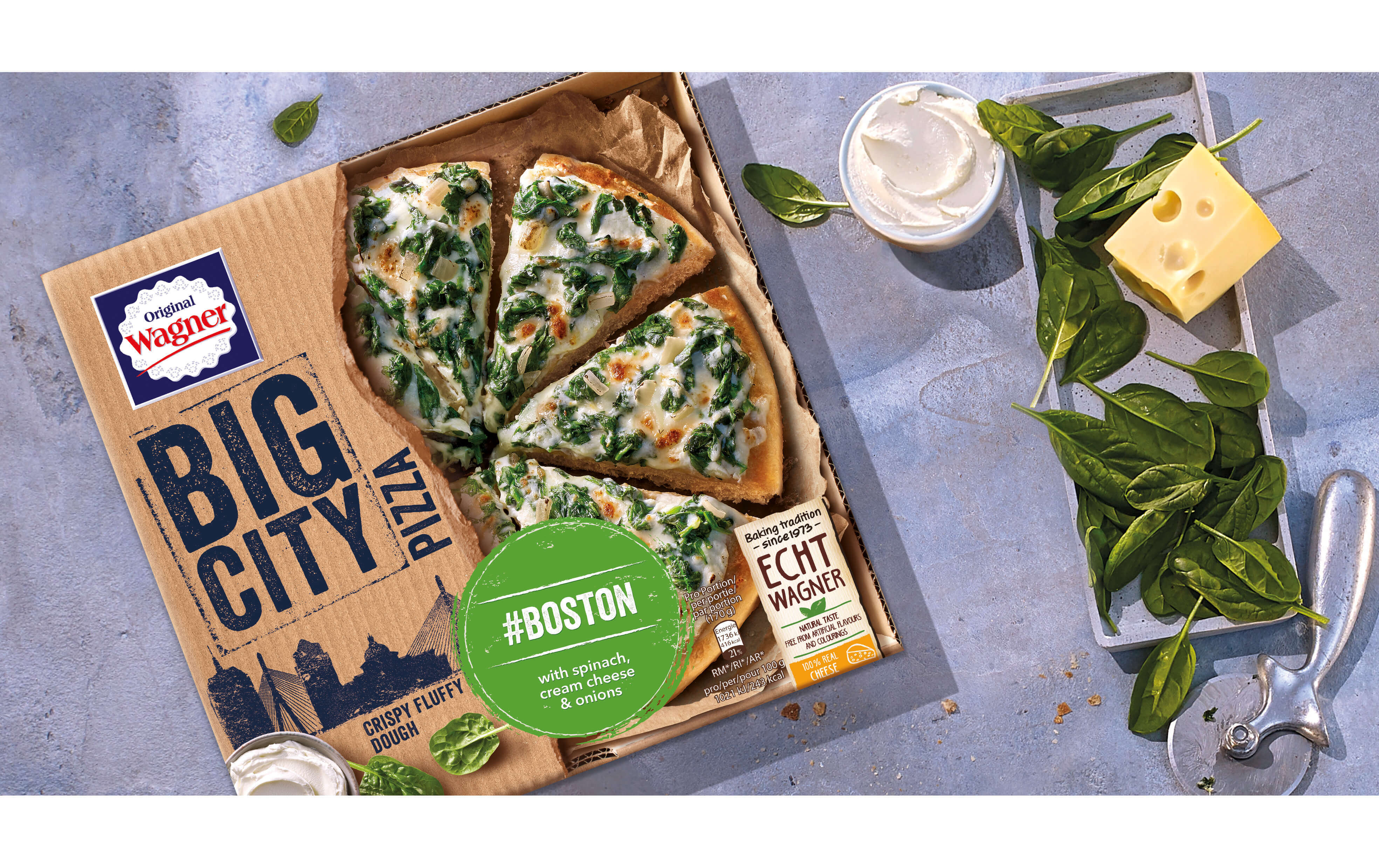 Packaging Design Wagner Big City Pizza